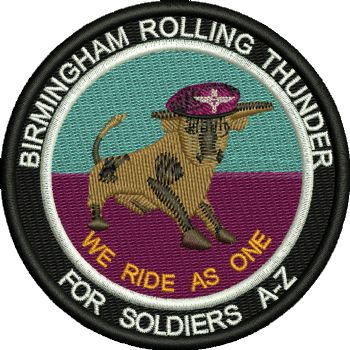 BIRMINGHAM BULL FOR SOLDIER A-Z EMBROIDERED BADGE